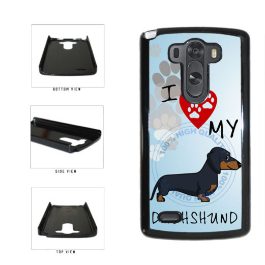 I Love My Dachshund Dog Lover Plastic Phone Case Back Cover For LG G3 D855 includes BleuReign(TM) Cloth and Warranty Label