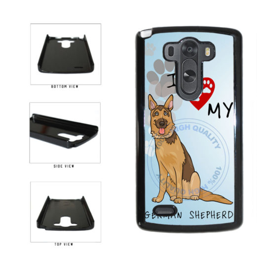I Love My German Shepherd Dog Lover Plastic Phone Case Back Cover For LG G3 D855 includes BleuReign(TM) Cloth and Warranty Label