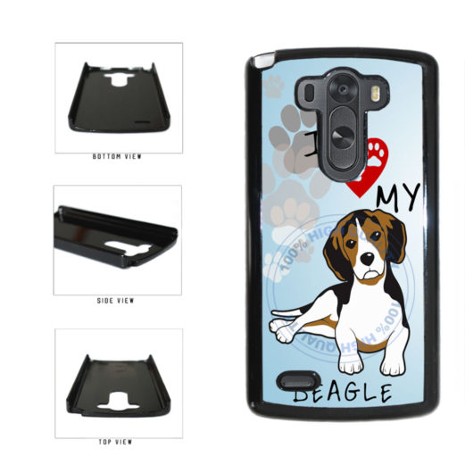 I Love My Beagle Dog Lover Plastic Phone Case Back Cover For LG G3 D855 includes BleuReign(TM) Cloth and Warranty Label