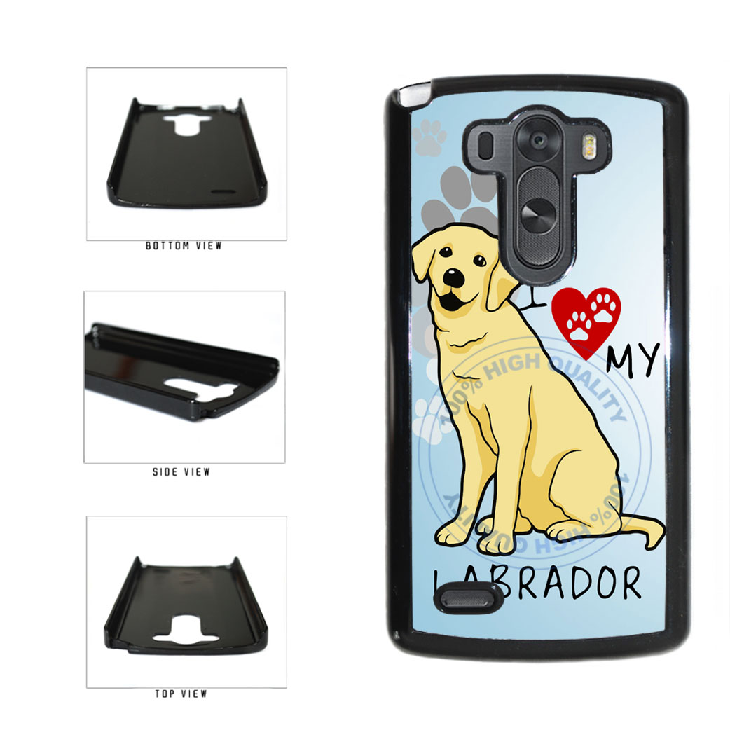 I Love My Labrador Dog Lover Plastic Phone Case Back Cover For LG G3 D855 includes BleuReign(TM) Cloth and Warranty Label
