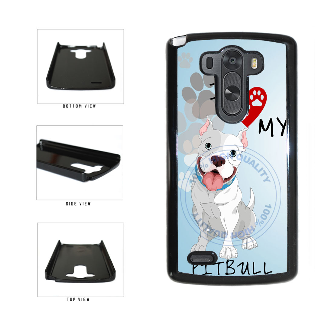I Love My Pittbull Dog Lover Plastic Phone Case Back Cover For LG G3 D855 includes BleuReign(TM) Cloth and Warranty Label