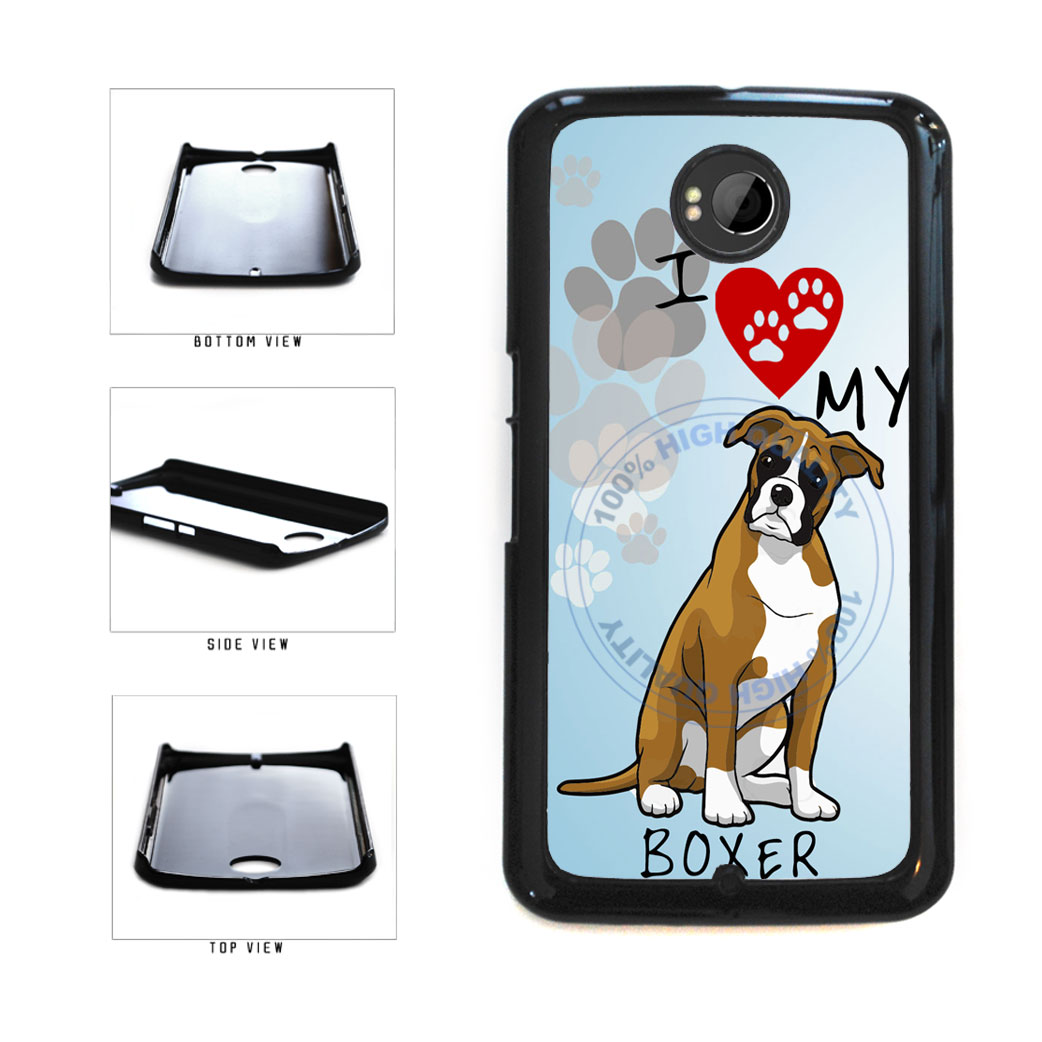I Love My Boxer Dog Lover Plastic Phone Case Back Cover For Google Nexus 6 includes BleuReign(TM) Cloth and Warranty Label