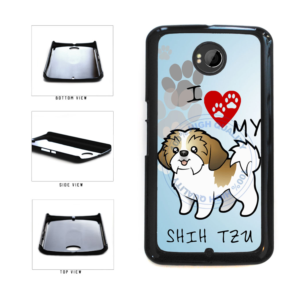 I Love My Shih Tzu Dog Lover Plastic Phone Case Back Cover For Google Nexus 6 includes BleuReign(TM) Cloth and Warranty Label