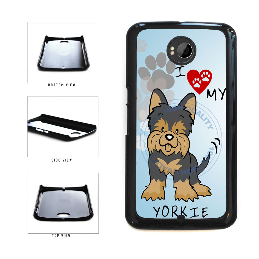 I Love My Yorkie Dog Lover Plastic Phone Case Back Cover For Google Nexus 6 includes BleuReign(TM) Cloth and Warranty Label