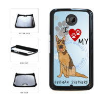 I Love My German Shepherd Dog Lover Plastic Phone Case Back Cover For Google Nexus 6 includes BleuReign(TM) Cloth and Warranty Label