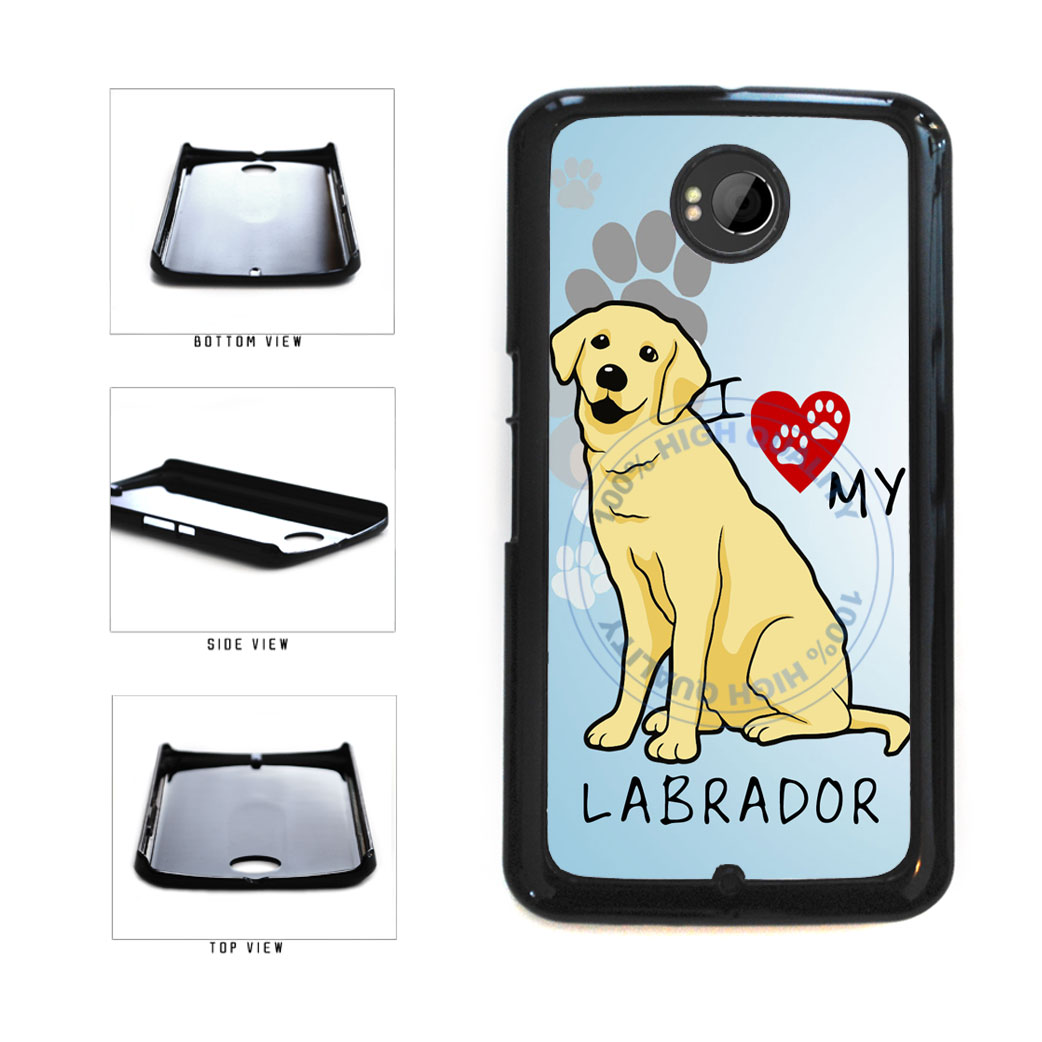 I Love My Labrador Dog Lover Plastic Phone Case Back Cover For Google Nexus 6 includes BleuReign(TM) Cloth and Warranty Label