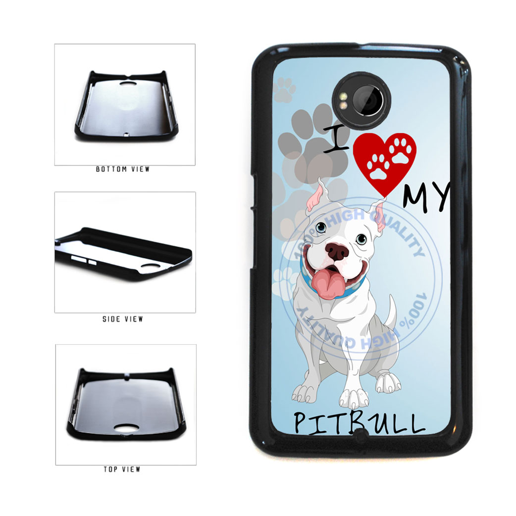 I Love My Pittbull Dog Lover Plastic Phone Case Back Cover For Google Nexus 6 includes BleuReign(TM) Cloth and Warranty Label