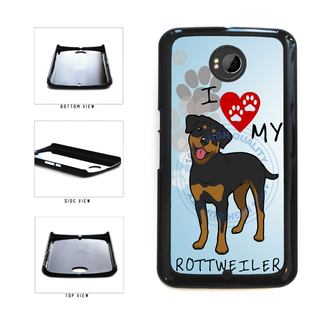 I Love My Rottweiler Dog Lover Plastic Phone Case Back Cover For Google Nexus 6 includes BleuReign(TM) Cloth and Warranty Label
