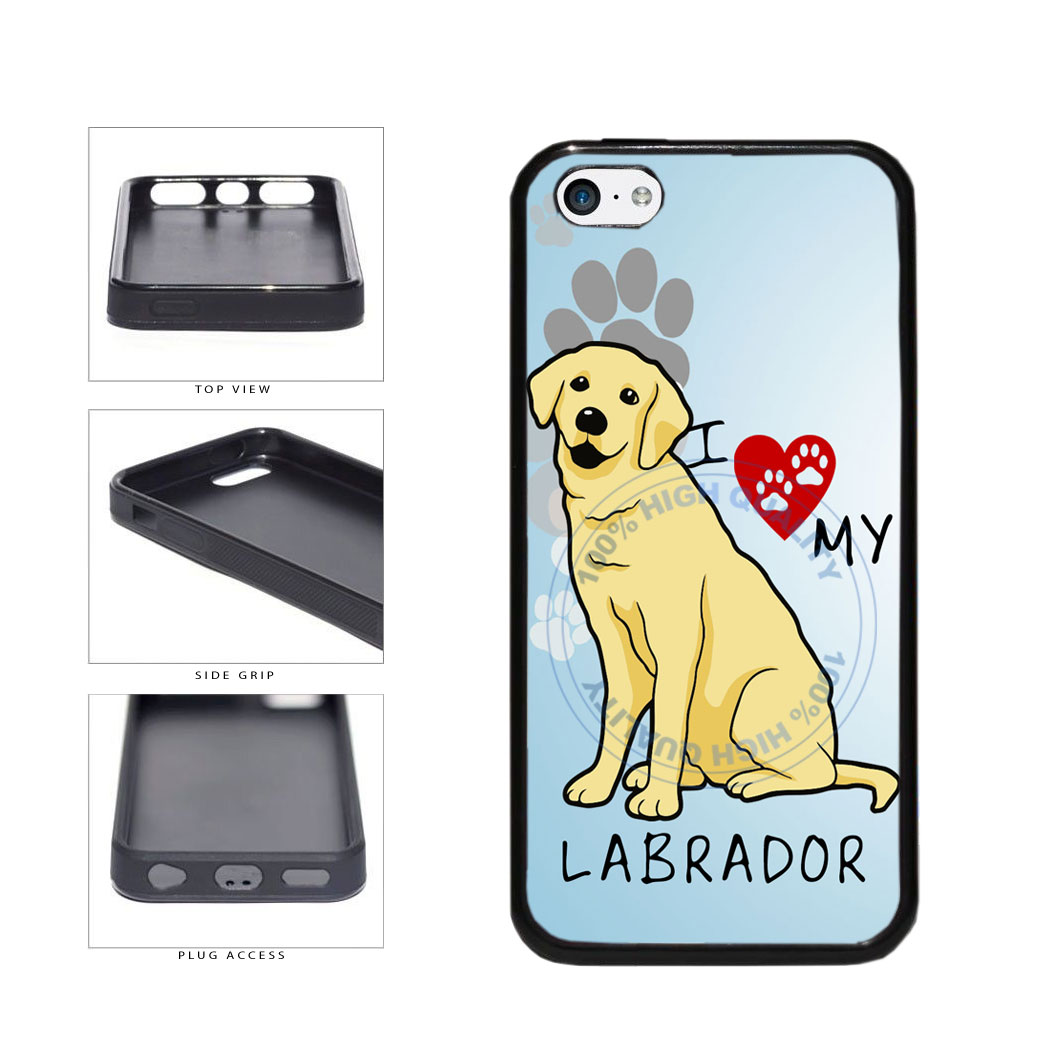 I Love My Labrador Dog Lover TPU Rubber SILICONE Phone Case Back Cover For Apple iPhone 5c includes BleuReign(TM) Cloth and Warranty Label