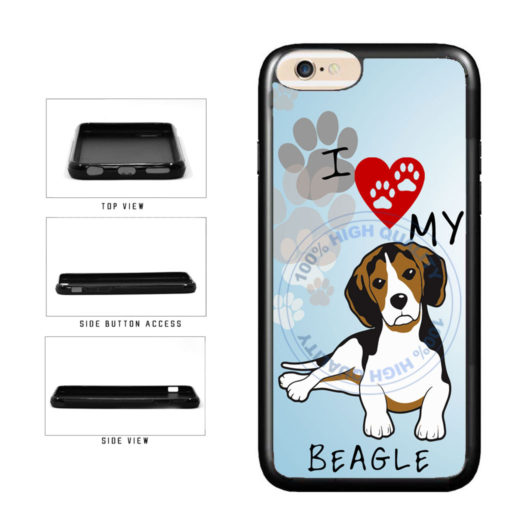 I Love My Beagle Dog Lover TPU Rubber SILICONE Phone Case Back Cover For Apple iPhone 6 Plus 6s Plus (5.5 Inches Screen) includes BleuReign(TM) Cloth and Warranty Label