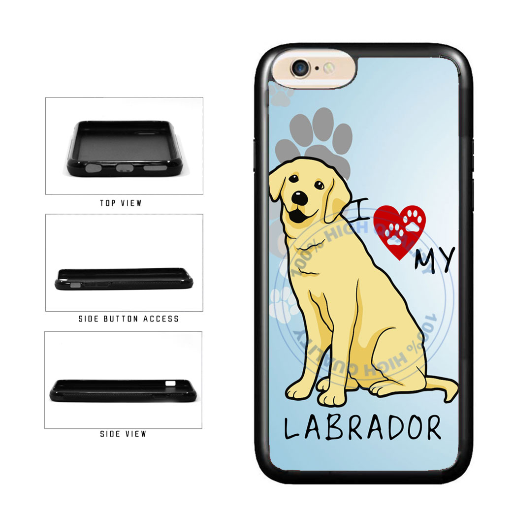 I Love My Labrador Dog Lover TPU Rubber SILICONE Phone Case Back Cover For Apple iPhone 6 Plus 6s Plus (5.5 Inches Screen) includes BleuReign(TM) Cloth and Warranty Label