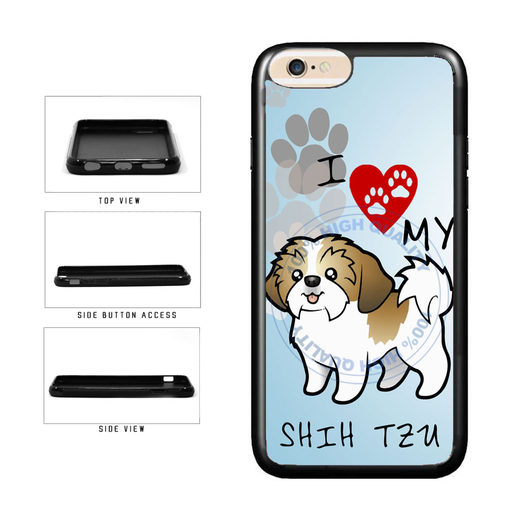 I Love My Shih Tzu Dog Lover TPU Rubber SILICONE Phone Case Back Cover For Apple iPhone 6 Plus 6s Plus (5.5 Inches Screen) includes BleuReign(TM) Cloth and Warranty Label