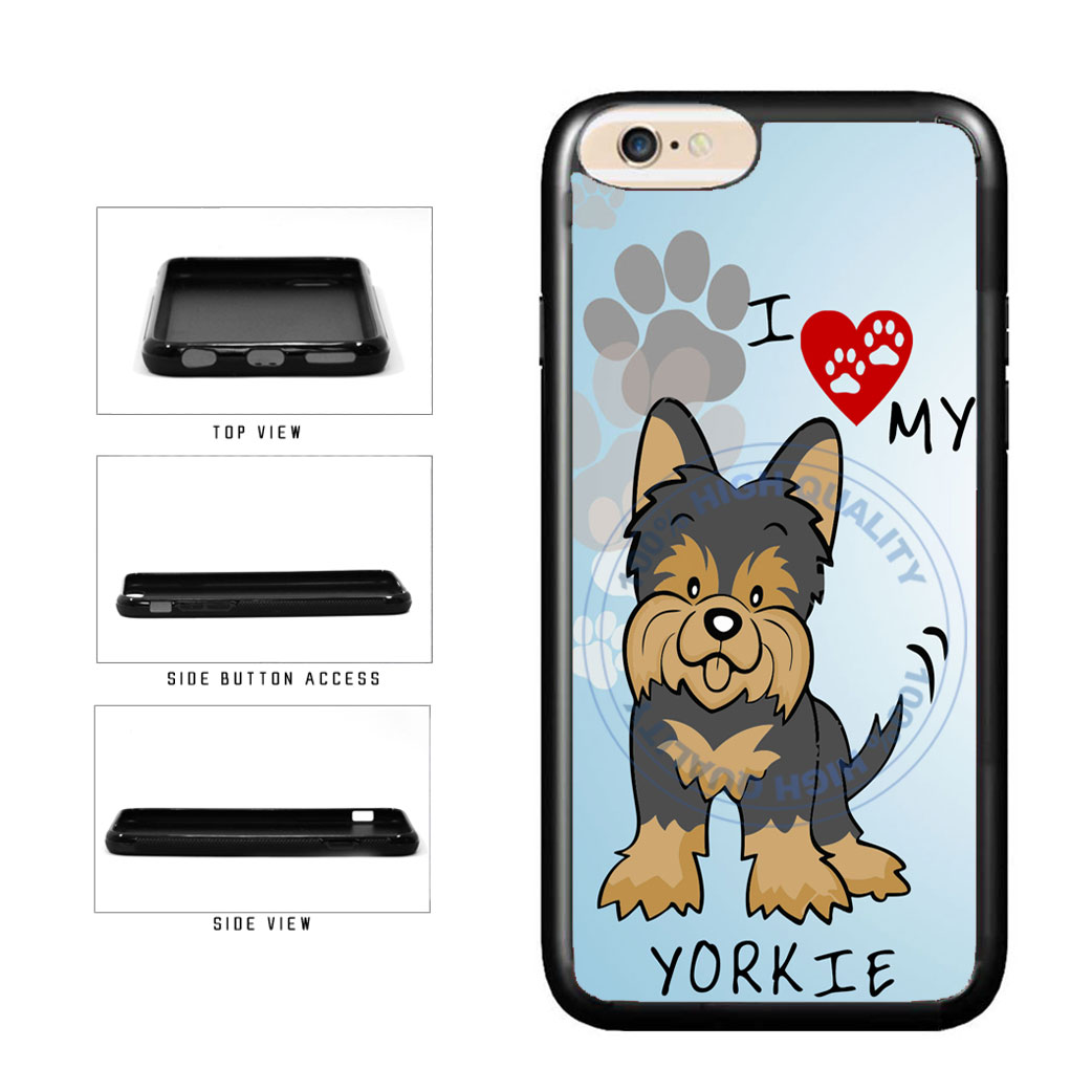 I Love My Yorkie Dog Lover TPU Rubber SILICONE Phone Case Back Cover For Apple iPhone 6 Plus 6s Plus (5.5 Inches Screen) includes BleuReign(TM) Cloth and Warranty Label