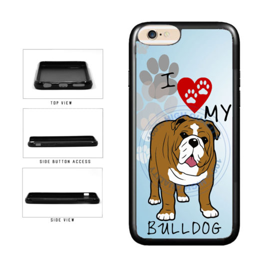 I Love My Bulldog Dog Lover TPU Rubber SILICONE Phone Case Back Cover For Apple iPhone 6 6s (4.7 Inches Screen) includes BleuReign(TM) Cloth and Warranty Label