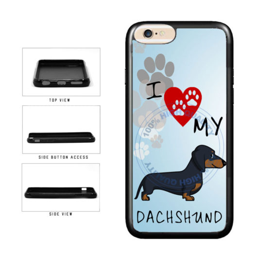 I Love My Dachshund Dog Lover TPU Rubber SILICONE Phone Case Back Cover For Apple iPhone 6 6s (4.7 Inches Screen) includes BleuReign(TM) Cloth and Warranty Label