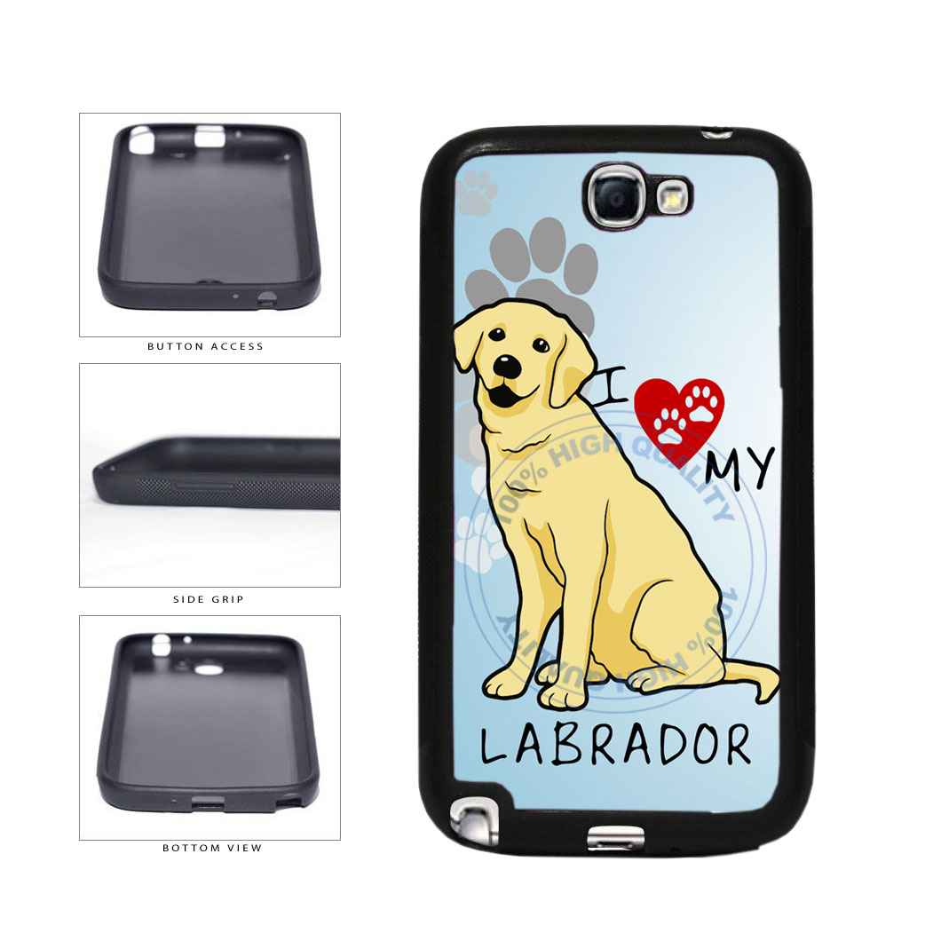 I Love My Labrador Dog Lover TPU Rubber SILICONE Phone Case Back Cover For Samsung Galaxy Note II 2 N7100 includes BleuReign(TM) Cloth and Warranty Label