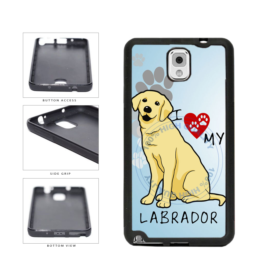 I Love My Labrador Dog Lover TPU Rubber SILICONE Phone Case Back Cover For Samsung Galaxy Note III 3 N9002 includes BleuReign(TM) Cloth and Warranty Label