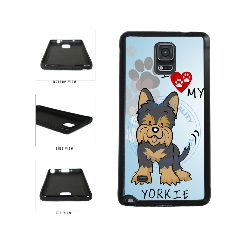 I Love My Yorkie Dog Lover TPU Rubber SILICONE Phone Case Back Cover For Samsung Galaxy Note IV 4 N910 includes BleuReign(TM) Cloth and Warranty Label