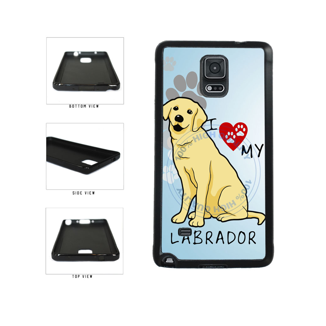 I Love My Labrador Dog Lover TPU Rubber SILICONE Phone Case Back Cover For Samsung Galaxy Note IV 4 N910 includes BleuReign(TM) Cloth and Warranty Label