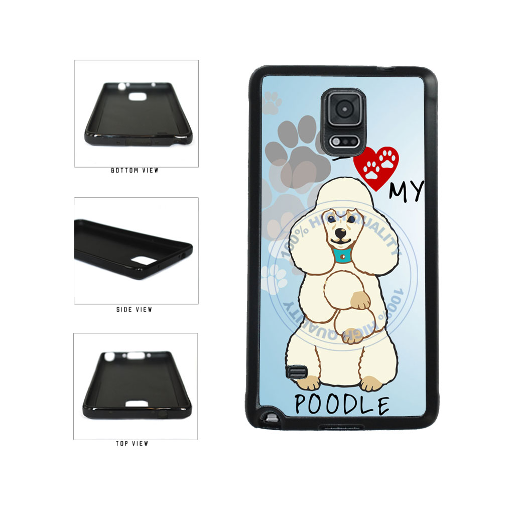 I love My Poodle Dog Lover TPU Rubber SILICONE Phone Case Back Cover For Samsung Galaxy Note IV 4 N910 includes BleuReign(TM) Cloth and Warranty Label