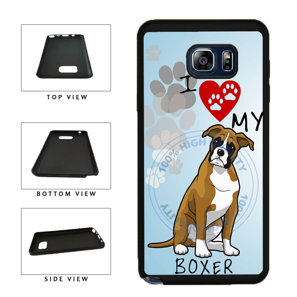 I Love My Boxer Dog Lover TPU RUBBER SILICONE Phone Case Back Cover For Samsung Galaxy Note V 5 N920 includes BleuReign(TM) Cloth and Warranty Label