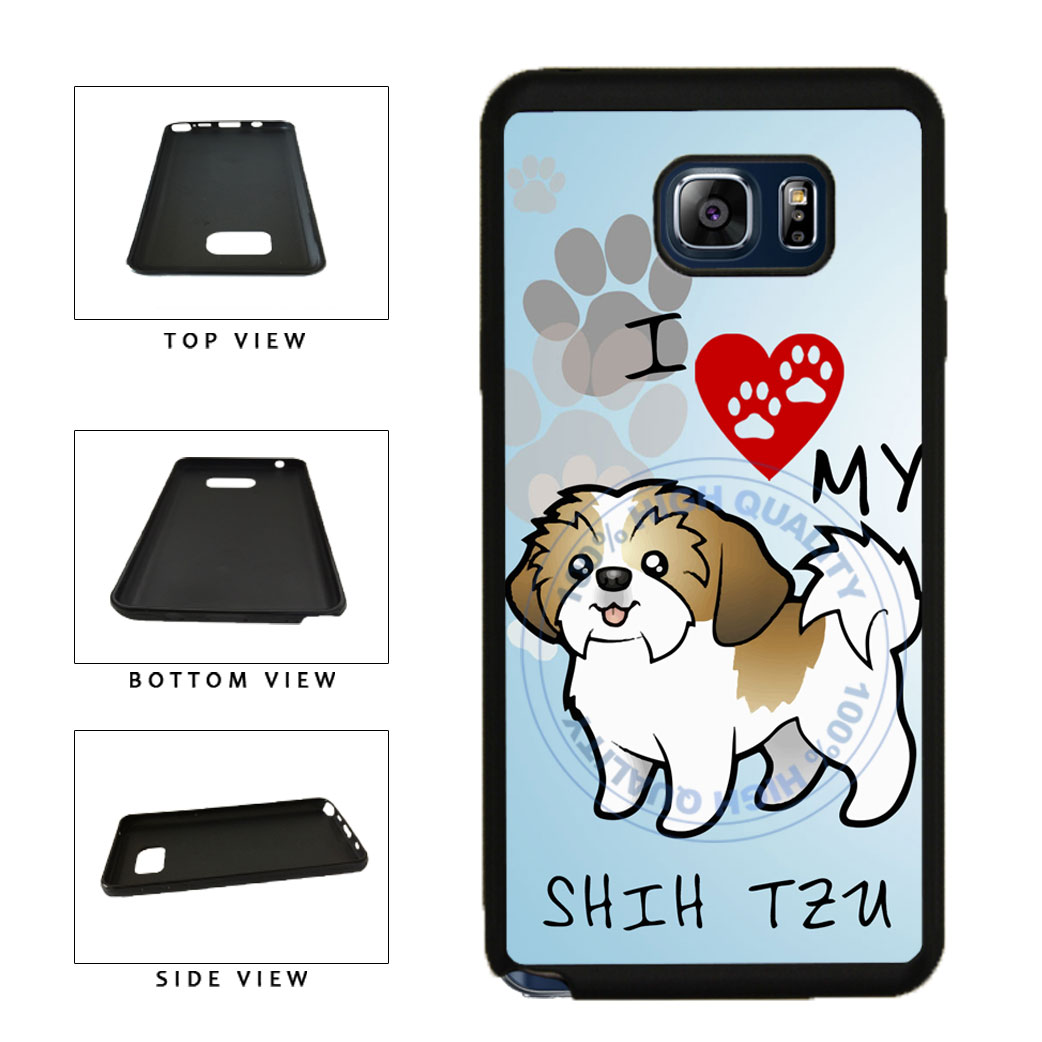 I Love My Shih Tzu Dog Lover TPU RUBBER SILICONE Phone Case Back Cover For Samsung Galaxy Note V 5 N920 includes BleuReign(TM) Cloth and Warranty Label