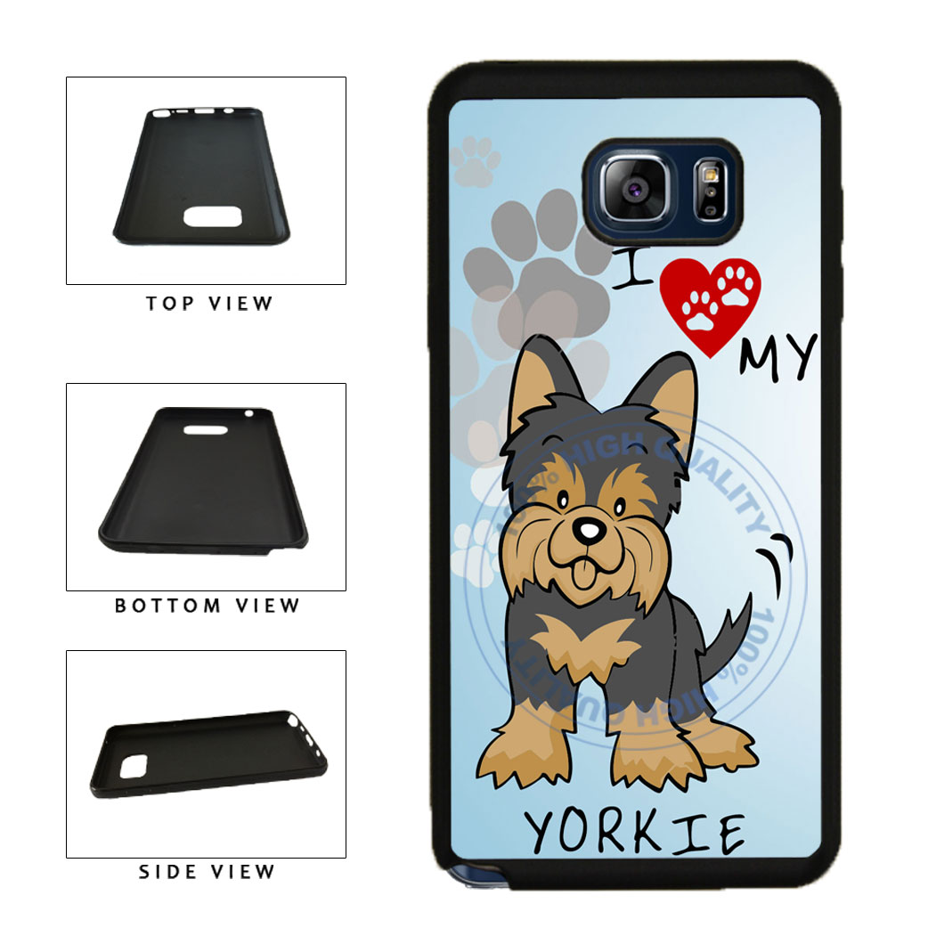 I Love My Yorkie Dog Lover TPU RUBBER SILICONE Phone Case Back Cover For Samsung Galaxy Note V 5 N920 includes BleuReign(TM) Cloth and Warranty Label
