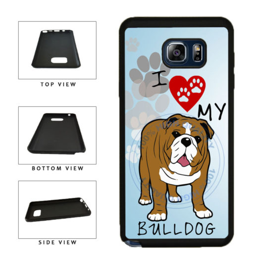 I Love My Bulldog Dog Lover TPU RUBBER SILICONE Phone Case Back Cover For Samsung Galaxy Note V 5 N920 includes BleuReign(TM) Cloth and Warranty Label