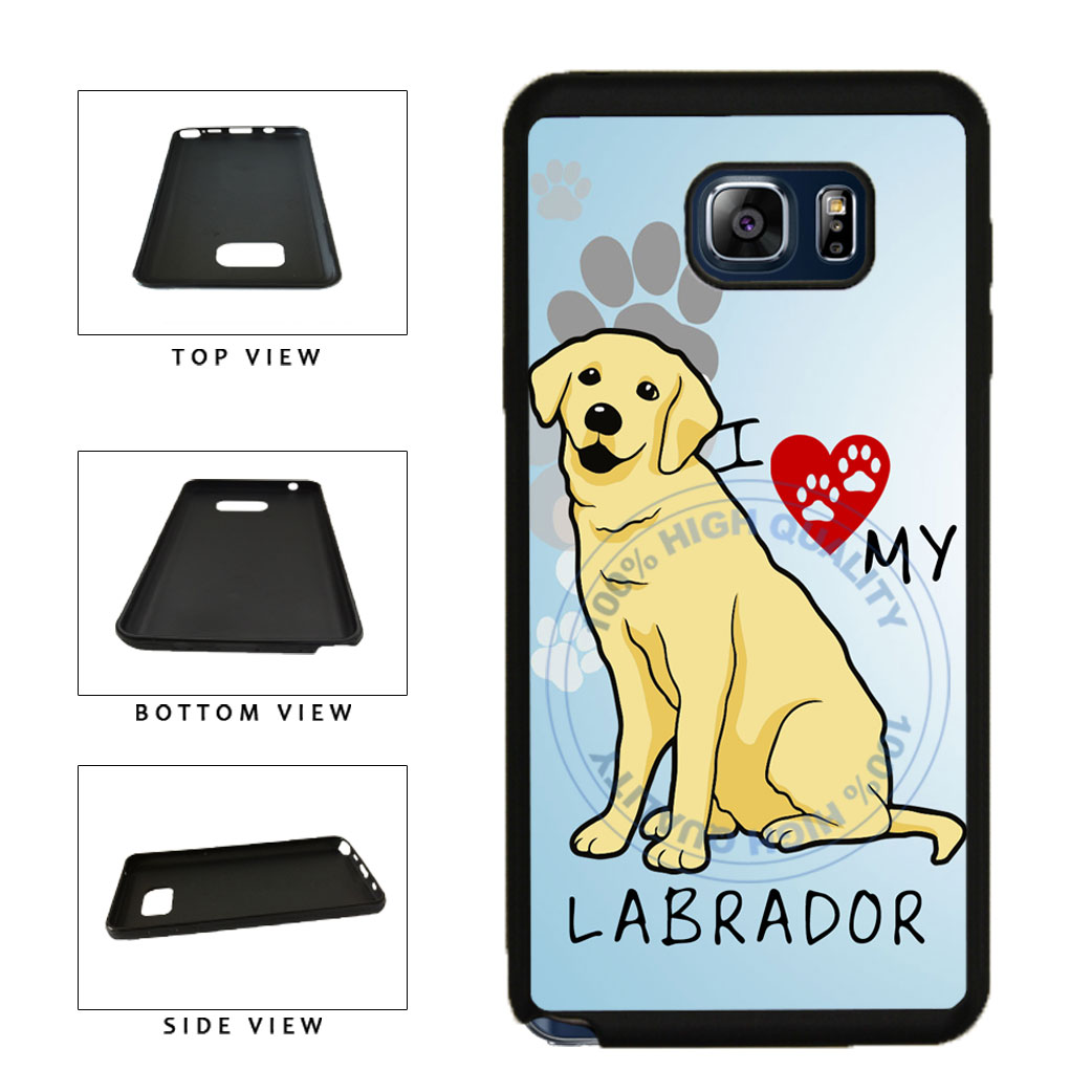 I Love My Labrador Dog Lover TPU RUBBER SILICONE Phone Case Back Cover For Samsung Galaxy Note V 5 N920 includes BleuReign(TM) Cloth and Warranty Label