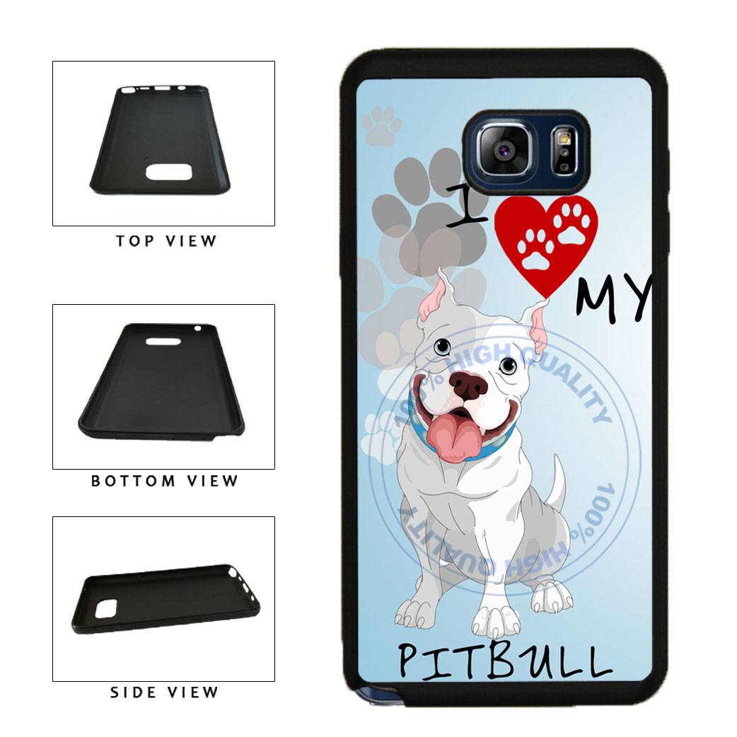 I Love My Pittbull Dog Lover TPU RUBBER SILICONE Phone Case Back Cover For Samsung Galaxy Note V 5 N920 includes BleuReign(TM) Cloth and Warranty Label