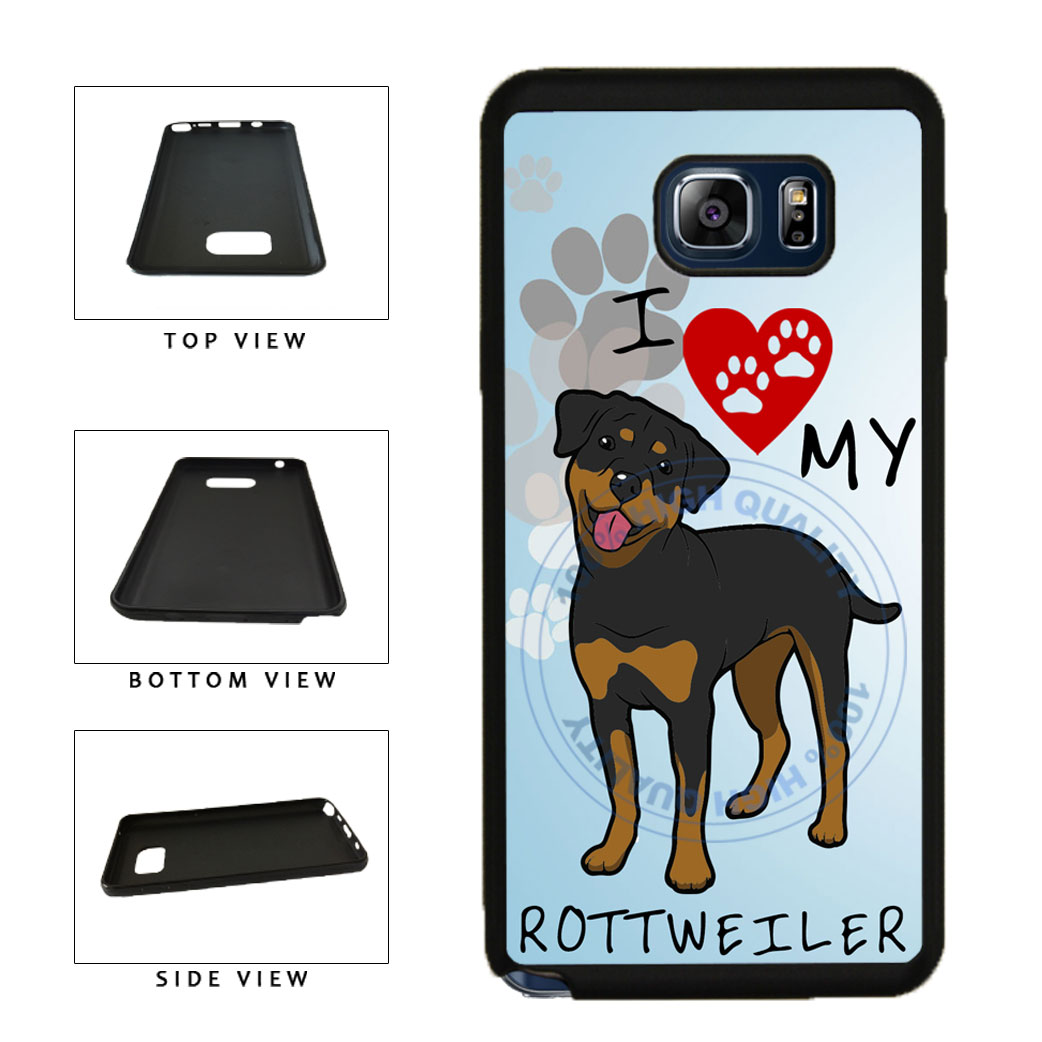 I Love My Rottweiler Dog Lover TPU RUBBER SILICONE Phone Case Back Cover For Samsung Galaxy Note V 5 N920 includes BleuReign(TM) Cloth and Warranty Label