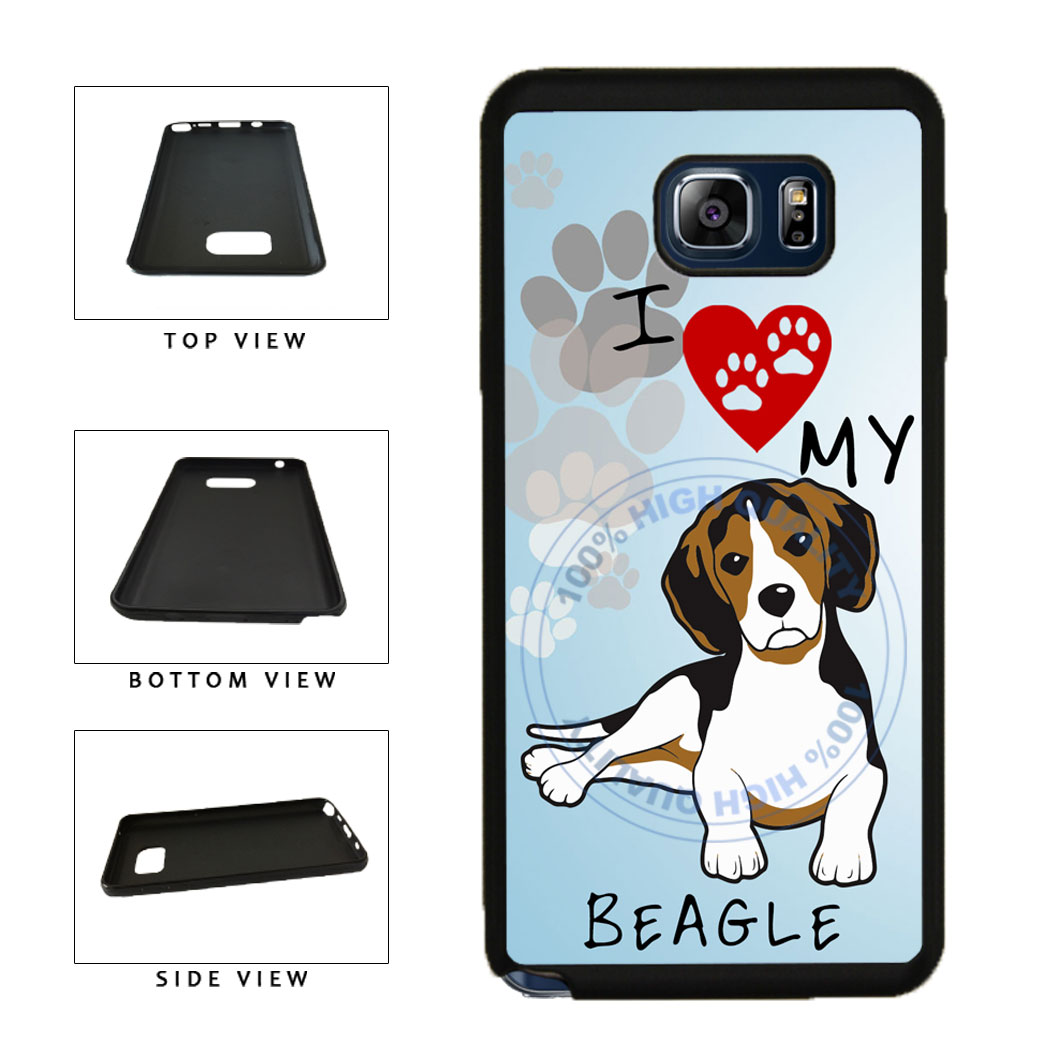 I Love My Beagle Dog Lover TPU RUBBER SILICONE Phone Case Back Cover For Samsung Galaxy Note V 5 N920 includes BleuReign(TM) Cloth and Warranty Label