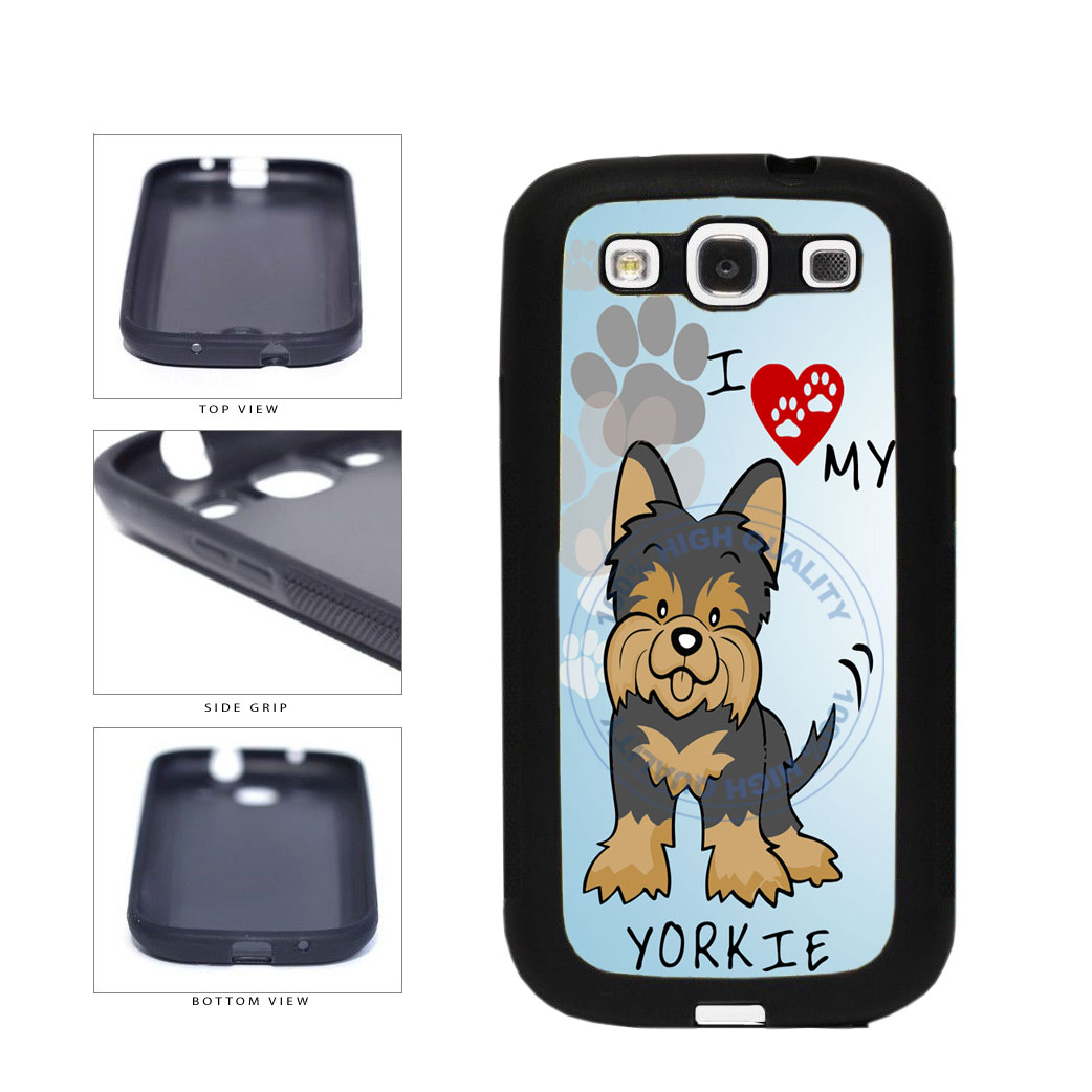 I Love My Yorkie Dog Lover TPU Rubber SILICONE Phone Case Back Cover For Samsung Galaxy S3 I9300 includes BleuReign(TM) Cloth and Warranty Label