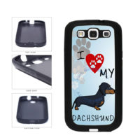 I Love My Dachshund Dog Lover TPU Rubber SILICONE Phone Case Back Cover For Samsung Galaxy S3 I9300 includes BleuReign(TM) Cloth and Warranty Label
