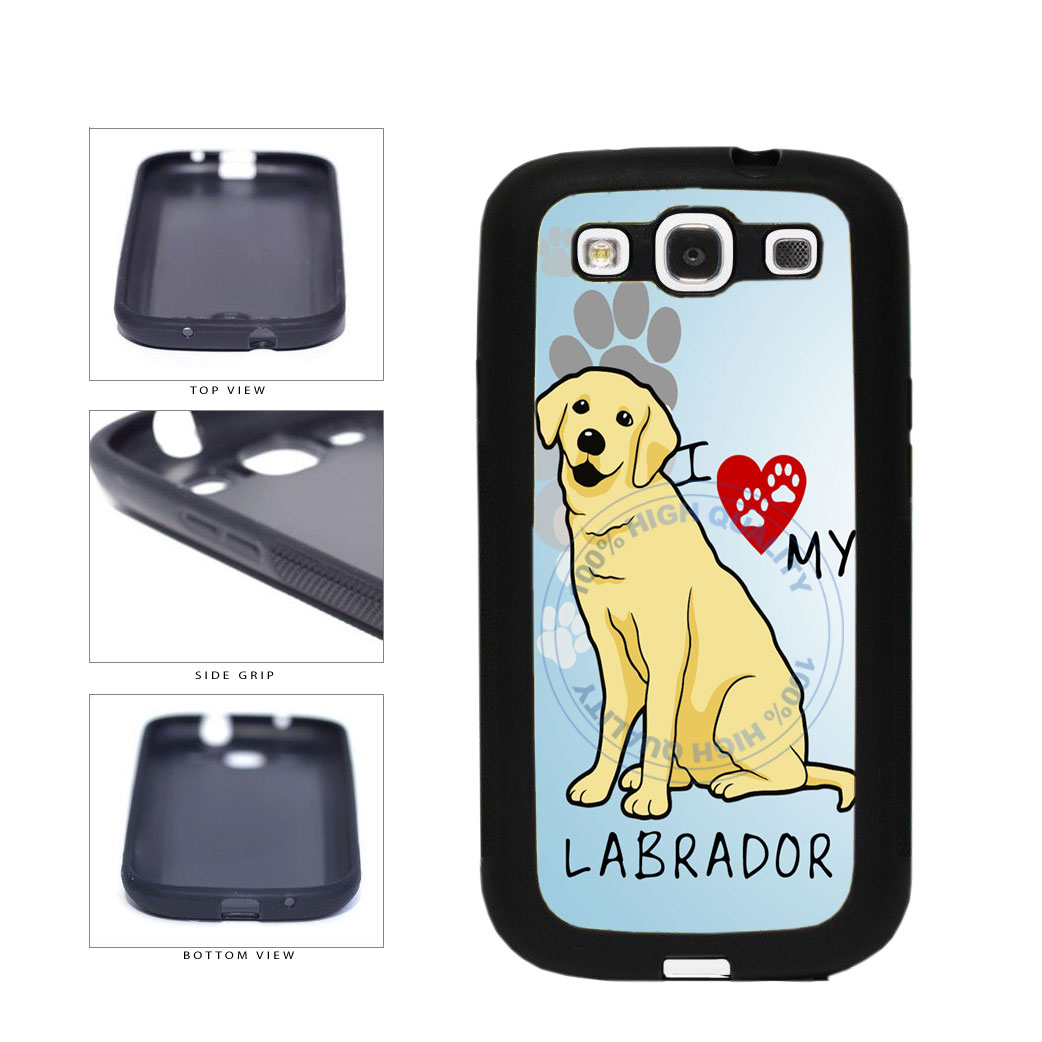 I Love My Labrador Dog Lover TPU Rubber SILICONE Phone Case Back Cover For Samsung Galaxy S3 I9300 includes BleuReign(TM) Cloth and Warranty Label