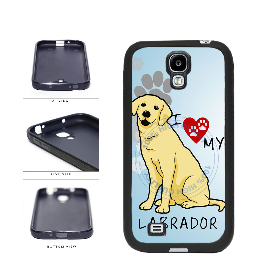 I Love My Labrador Dog Lover TPU Rubber SILICONE Phone Case Back Cover For Samsung Galaxy S4 I9500 includes BleuReign(TM) Cloth and Warranty Label