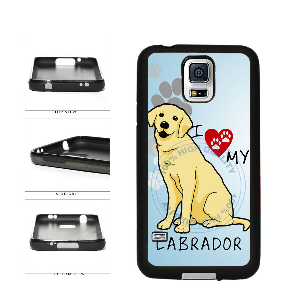 I Love My Labrador Dog Lover TPU Rubber SILICONE Phone Case Back Cover For Samsung Galaxy S5 I9600 includes BleuReign(TM) Cloth and Warranty Label