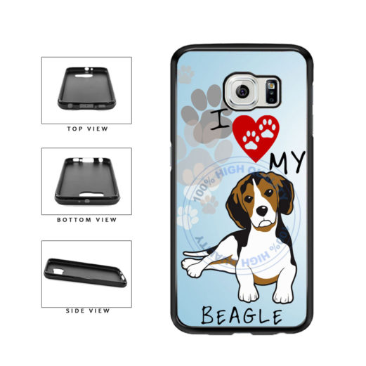 I Love My Beagle Dog Lover TPU Rubber SILICONE Phone Case Back Cover For Samsung Galaxy S6 G920 includes BleuReign(TM) Cloth and Warranty Label