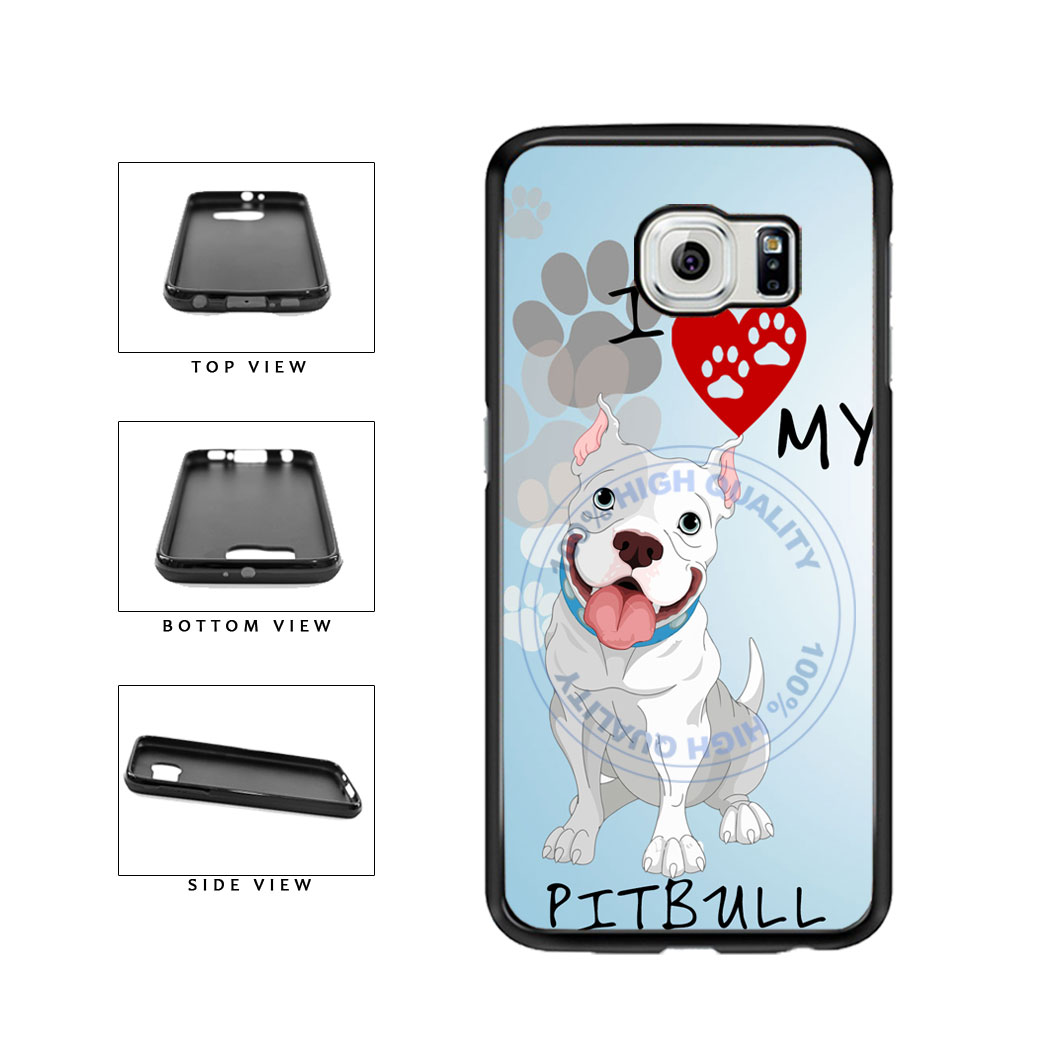 I Love My Pittbull Dog Lover TPU Rubber SILICONE Phone Case Back Cover For Samsung Galaxy S6 G920 includes BleuReign(TM) Cloth and Warranty Label