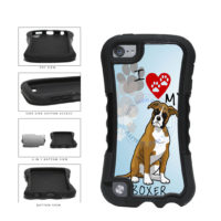 I Love My Boxer Dog Lover 2-Piece Dual Layer Phone Case Back Cover For Apple iPod Touch 5th Generation includes BleuReign(TM) Cloth and Warranty Label