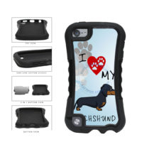 I Love My Dachshund Dog Lover 2-Piece Dual Layer Phone Case Back Cover For Apple iPod Touch 5th Generation includes BleuReign(TM) Cloth and Warranty Label