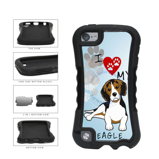 I Love My Beagle Dog Lover 2-Piece Dual Layer Phone Case Back Cover For Apple iPod Touch 5th Generation includes BleuReign(TM) Cloth and Warranty Label
